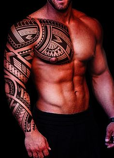 Tribal shoulder and chest tattoo - tattoo - # chest # for # shoulder # tattoo . # maori tattoos - maori tattoos - Tribal tattoo for shoulder and chest tattoo - Maori Tattoo Meanings, Maori Tattoos, Samoan Tribal Tattoos, Tribal Tattoos For Men, Chest Tattoos For Women, Marquesan Tattoos, Tattoos For Guys, Guy Tattoos, Turtle Tattoos