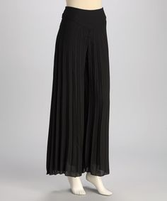 Take a look at this Black Palazzo Pants by Pink Martini Collection on #zulily today!