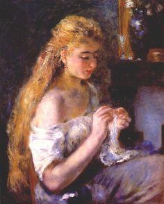 Pierre-Auguste Renoir - Girl Crocheting,1875