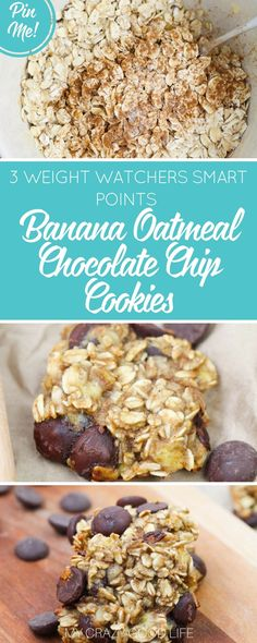 These Banana Oatmeal Cookies are the perfect healthier cookie recipe! They're quick to make and an easy way to use ripe bananas. Perfect for Weight Watchers!