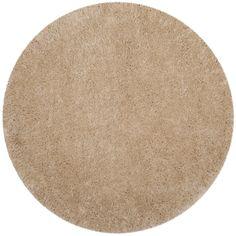 Safavieh Polar Light Beige Shag Rug (6' 7 Round) (PSG800A-7R), Size 7' (Polyester, Solid)