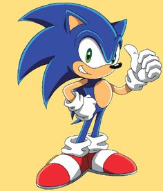 Sonic the hedgehog. hours of fun beating my brothers Sonic And Amy, Sonic Boom, Iconic Characters, Cartoon Characters, Cartoon Art, Game Character, Character Design, Naruto Uzumaki Hokage, Sonic Franchise