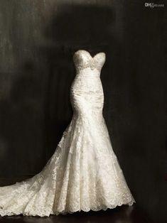 Wholesale Mermaid Wedding Dresses - Buy 20131028 Gorgeous Swarovski Crystals…
