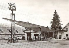 Image result for 1950s gas station