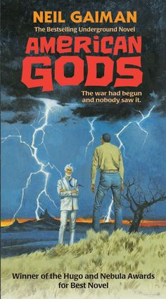 Neil Gaiman's Journal: Robert E McGinnis and the Secret of The New Cover   Retro cover for the Harper Collins paperback re release of American Gods. Art by Robert E. McGinnis   This is amazing. I must have it.