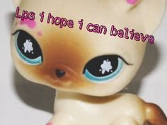 For Lps I hope I can believe