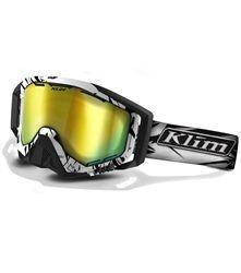 2014 Klim Radius Mountain Snowmobile Goggles DBL Smoke Gold Mirror