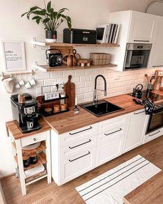 Home Decor Kitchen, New Kitchen, Home Kitchens, Bright Kitchens, Elegant Kitchens, Knoxhult Ikea, Sweet Home, Kitchen Colour Schemes, Interior Decorating