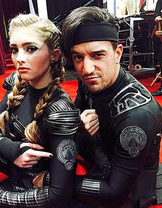 Willow Shields and her pro, Mark Ballas, work tribute costumes for their Hunger Games-inspired dance on the April 6 episode of Dancing With the Stars.
