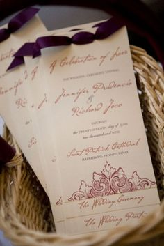 Wedding Trends: Wedding Programs » Inspiring Pretty