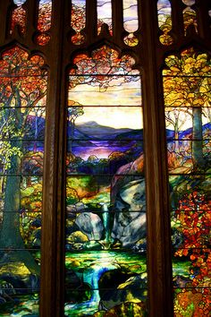 Louis Comfort Tiffany piece - it's at the Metropolitan Museum of Art, in NYC.
