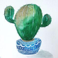 Flexin Sagauro cactus. @pricklypearpaints