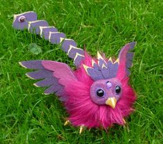 Purple Baby Phoenix - Artdoll for Aryiea by Ganjamira on DeviantArt