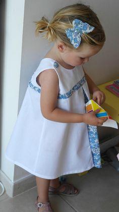 2021b1f0288a1 La robe trapèze Betsy - préparation cortège  2 - Chut Charlotte ! Diy Robe  FilleRobe Bapteme ...