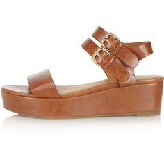 c9c0625658f3 FANG Double Buckle Flatform Sandals - Topshop USA