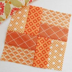 Very basic & easy for Modern Quilt Blocks - Block 18 'Southwick Village'. Absolutely adore this 'brick path' block. I used two charm squares and some scraps.strips for block. I know this block as Brick Path - it is an old favourite for making into fa Jellyroll Quilts, Scrappy Quilts, Easy Quilts, Patchwork Quilting, Wool Quilts, Easy Quilt Patterns, Patchwork Patterns, Pattern Blocks, Simple Quilt Pattern