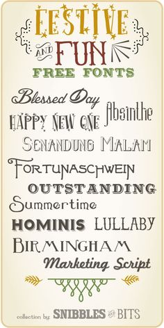 My Country Girl Ramblings: My Favourite Free Christmas Fonts