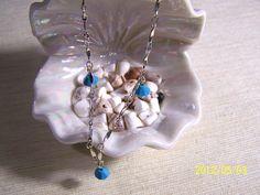 Turquoise Swarovski Crystal & Chain Anklet by lindasoriginaljewels, $10.50