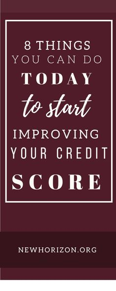 Free credit improvement tips 8 point do it yourself credit 8 things you can do today to start improving your credit score solutioingenieria Gallery