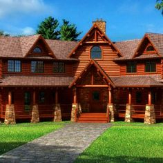 log cabin :) my dream home!