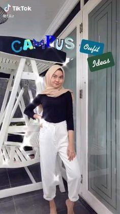 Modern Hijab Fashion, Hijab Fashion Inspiration, Muslim Fashion, Casual Hijab Outfit, Cute Casual Outfits, Simple Outfits, Ideas Hijab, Hijab Trends, Hijab Jeans