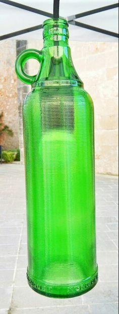 Bottle lamp.