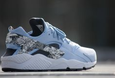 Nike Air Huarache Run PRM Aluminium Black White - 704830-401