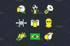 Violent sports fans. Sport Icons. $3.00