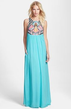 Mara Hoffman 'Cosmic Fountain' Embroidered Maxi Dress available at #Nordstrom