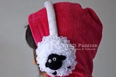 Crochet pattern for sheep earmuff - free pattern