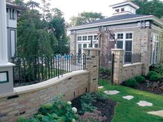Decorative Brick Fence   In the past, good, neighborly fences were usually made of wood or iron ...