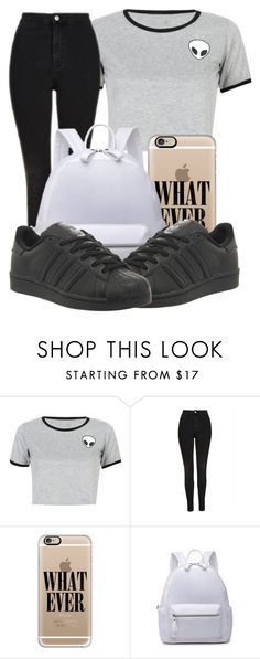 """""""Untitled #220"""" by bbgnaja ❤ liked on Polyvore featuring WithChic, Topshop, Casetify and adidas"""