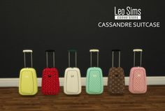 Leo 4 Sims: Deco suitcases 2 • Sims 4 Downloads