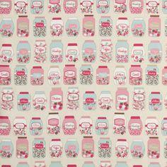 Sweet Jars Curtain Fabric
