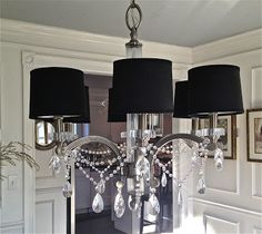 South Shore Decorating Blog: How to Make A Crystal Chandelier (a.k.a. I Think My Cleaning Lady Thinks I'm Nuts)
