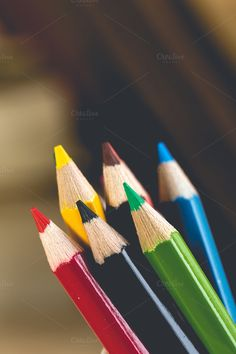 Group of color pencils by Pushish Images on @creativemarket