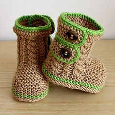 Spring Breath baby booties