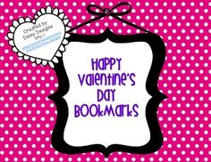 FREE Valentine's Day Bookmarks