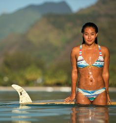 @Kelia Moniz  getting salty in Tahiti wearing the Golden Maze bikini collection