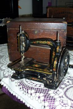 Another addition this week end Is the White Gem sewing machine 1880's approx. This Beautiful conditioned lock stitch machine is a delight to look at. Is perfect condition and with box. We are honored to own this one