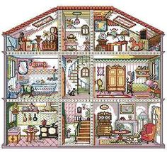 New Cross Stitch Kits Children's House on Ebay by seller top-grade-item-77