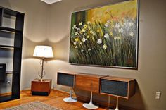 LARGE Mid Century Oil on Canvas Painting by Lee Reynolds