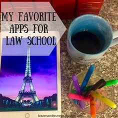 my favorite law school apps | brazenandbrunette.com