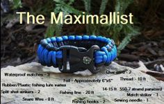 "Other companies have the ""Minimalist"" #survivalbracelet. Life Support - Ultimate Survival Gear LLC has the ""MAXIMALLIST"" survival ""pod"" bracelet. It comes with so much in it we had to invent a word to describe it. The ""Maximallist"" Life Support's Ultimate Survival ""POD"" Bracelet."