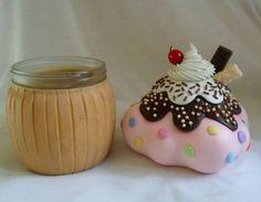 Pote cupcake | Art Minha - Biscuit | Elo7