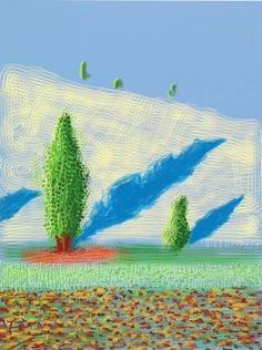 """immafuster: """"David Hockney Untitled No. 10"""", """"The Yosemite Suite"""", 2010 IPad drawing printed on paper """""""