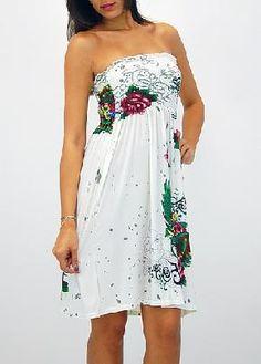 NEW! Smocked Tube Dress (White) ONE SIZE I want this