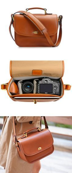 Leather camera bag. A camera bag that is actually stylish!