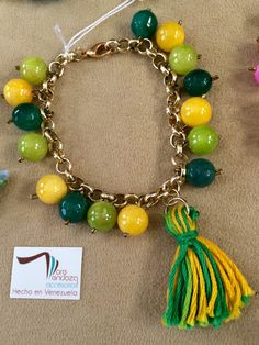 Handmade Bracelets with Gold-filled chain and colored beads and agates #etsy  #etsymnt