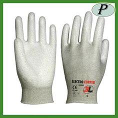 Guantes Electro Cooper 3L con poliuretano en palma. Más información en http://www.tplanas.com/epis/guantes-sin-costuras/783-guantes-3l-antiestaticos-elecro-copper.html